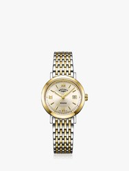 Rotary Lb05301 09 'S Windsor Date Bracelet Strap Watch Multi Gold