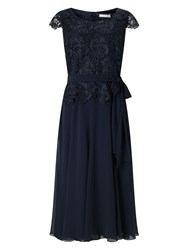 Jacques Vert Soft Fit And Flare Dress Navy