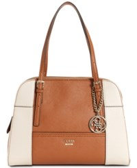 Guess Huntley Cali Medium Satchel Cognac Multi