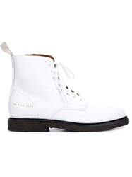 Common Projects Lace Up Boots White