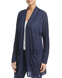 Marc New York Performance Burnout Long Open Cardigan Midnight
