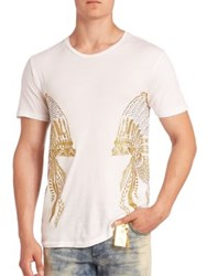 Robin's Jeans Headress Embroidered T Shirt White