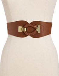 Fashion Focus Stretch Belt Tan Gold
