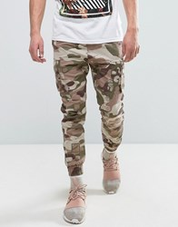 Cayler And Sons Cargo Joggers In Camo With Distressing Pink
