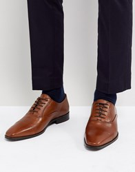 Dune Toe Cap Derby Shoes In Tan Leather