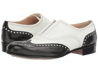 Gravati Slip On Wingtip Black White Women's Lace Up Wing Tip Shoes