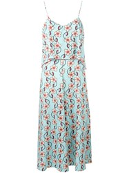 I'm Isola Marras Floral Print Layered Dress Blue