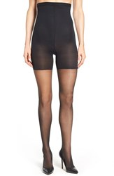 Women's Spanx 'Luxe' High Waist Leg Shaping Sheer Pantyhose Very Black