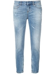 Faith Connexion Cropped Skinny Fit Jeans Blue