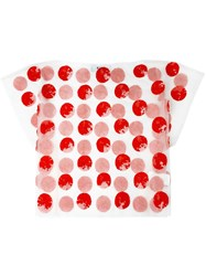 Msgm Sequin Embellished Dot T Shirt Red