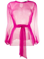 Gianluca Capannolo Tulle Blouse Pink