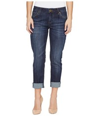 Kut From The Kloth Petite Catherine Boyfriend In Enticement Wash Enticement Wash Women's Jeans Blue