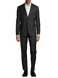 Saks Fifth Avenue Casual Wool Suit Charcoal