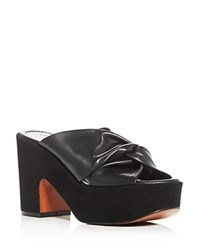 Robert Clergerie Esther High Heel Platform Slide Sandals Black