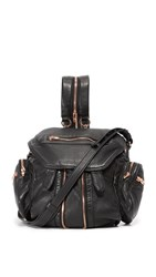 Alexander Wang Mini Marti Backpack With Rose Gold Hardware Black