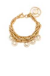 Fallon Prodigiam Medallion Bracelet Metallic Gold