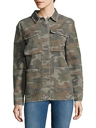 Saks Fifth Avenue Button Up Army Shirt Army Olive