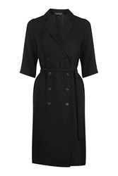Topshop Double Breasted Wrap Dress Black