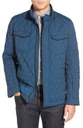 Tumi Signature Quilted Water Resistant Jacket Deep Sea Blue