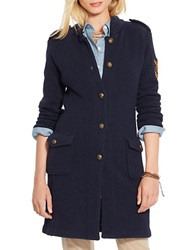 Lauren Ralph Lauren Wool Military Cardigan Blue