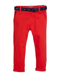 Mayoral Chino Trousers W Fish Belt Red