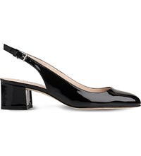 Lk Bennett Chloe Patent Leather Slingback Courts Bla Black