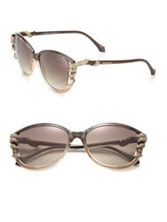 Roberto Cavalli Swarovski Crystal Snake Injected Sunglasses Brown Gold