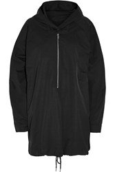 Stella Mccartney Christy Taffeta Hooded Jacket Black