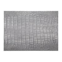 Amara Gator Recycled Leather Placemat Cloud