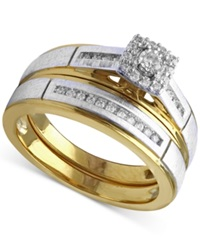 Beautiful Beginnings Diamond Engagement Ring And Wedding Band Set 1 5 Ct. T.W. In 14K Gold And White Gold