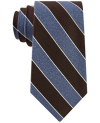 Club Room Men's Heather Stripe Tie Only At Macy's Brown