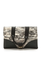 Jason Wu Hanne Clutch Black White