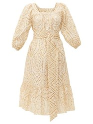Lisa Marie Fernandez Laure Broderie Anglaise Cotton Dress Ivory