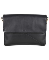Kenneth Cole Reaction Bag Two Differ Faux Leather Double Compartment Bag Black