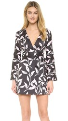 Cynthia Rowley Branches Bell Sleeve Dress Black
