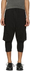 The Viridi Anne Black Destroyed Layered Shorts