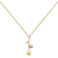 Finesse Pearl Chain Necklace Gold
