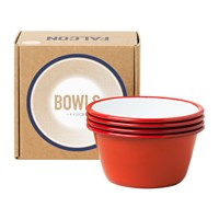 Falcon Set Of 4 Bowls Pillarbox Red