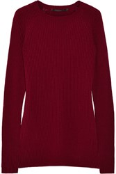 Haider Ackermann Ribbed Wool And Cashmere Blend Sweater Burgundy