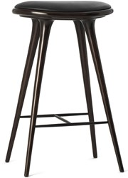 Mater Dark Stained Beechwood High Stool