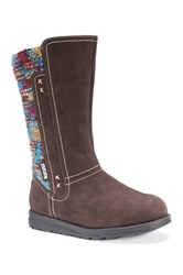 Muk Luks Lilah Sweater Boot Brown