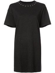 Current Elliott Studded T Shirt Dress Black
