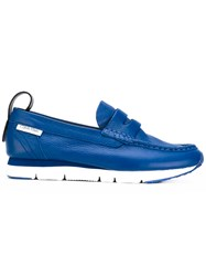 Calvin Klein Chunky Loafers Women Calf Leather Leather Rubber 40 Blue