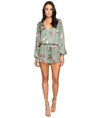 Show Me Your Mumu Rocky Romper Laura Flora Women's Jumpsuit And Rompers One Piece Green