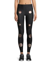 Ultracor Solstice Full Length Compression Tights With Circles Black Pink