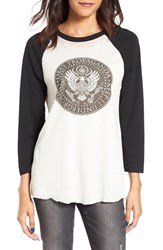 Obey Women's Oil Eagle Graphic Tee