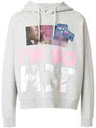 House Of Holland I'm So Hot Hoodie Grey