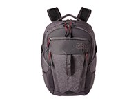 The North Face Women's Surge Rabbit Grey Heather Cerise Pink Backpack Bags Gray