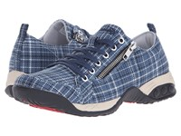 Therafit Sienna Blue Plaid Women's Lace Up Casual Shoes Multi