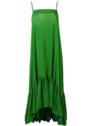 Gianluca Capannolo Flared Cami Dress Green